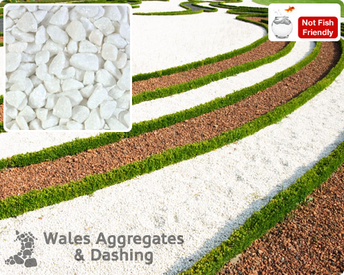 Welsh slate decorative dried aggregates from wales for White gravel landscaping